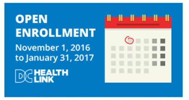 Open Enrollment 11/1/2016 to 1/31/2017